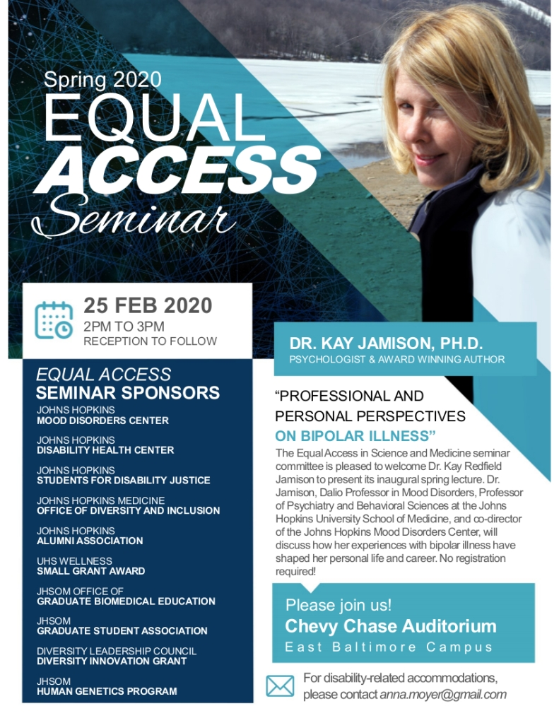 Flyer for Equal Access Seminar given by Kay Jamison