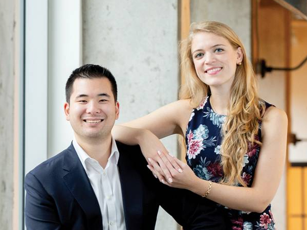 photo of Allysa Dittmar and Aaron Hsu